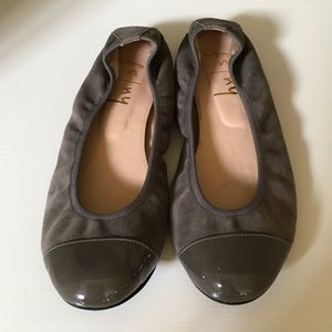 FS/NY French Sole Suede Ballet Flats Gray size 6.5